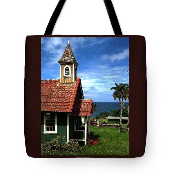 Little Green Church In Hawaii Tote Bag