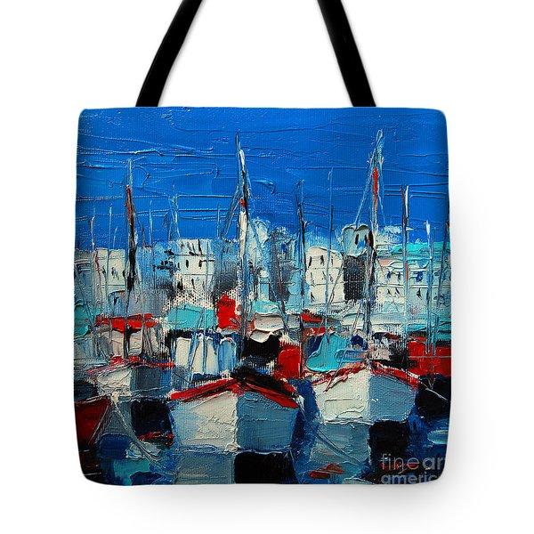 Little Harbor Tote Bag by Mona Edulesco