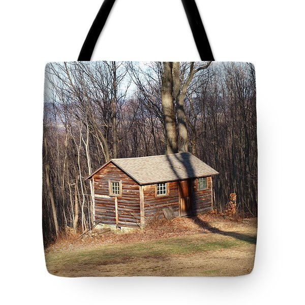 Little House In The Woods Tote Bag by Robert Margetts