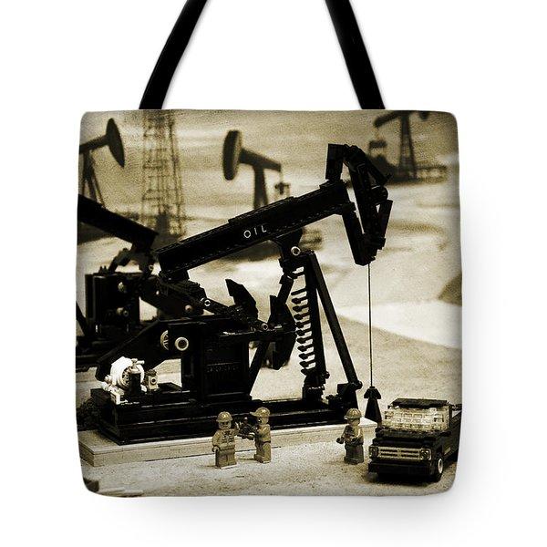 Little Pumpjacks Tote Bag by Ricky Barnard