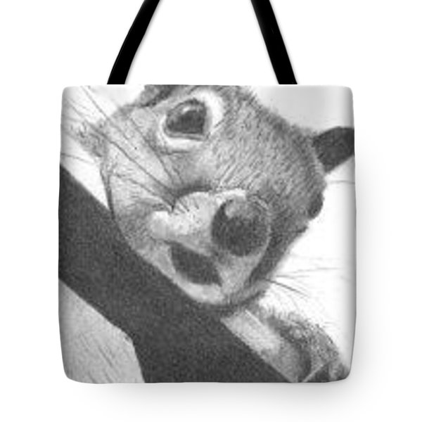 Tote Bag featuring the drawing Little Rascal - Aceo by Ana Tirolese