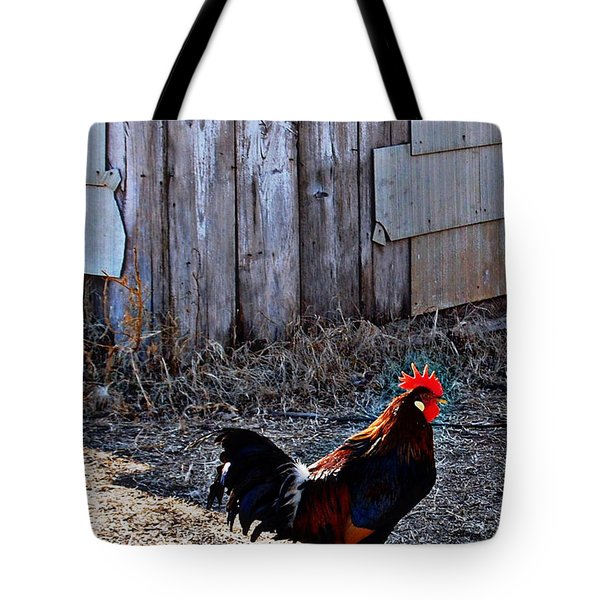 Little Red Rooster Tote Bag