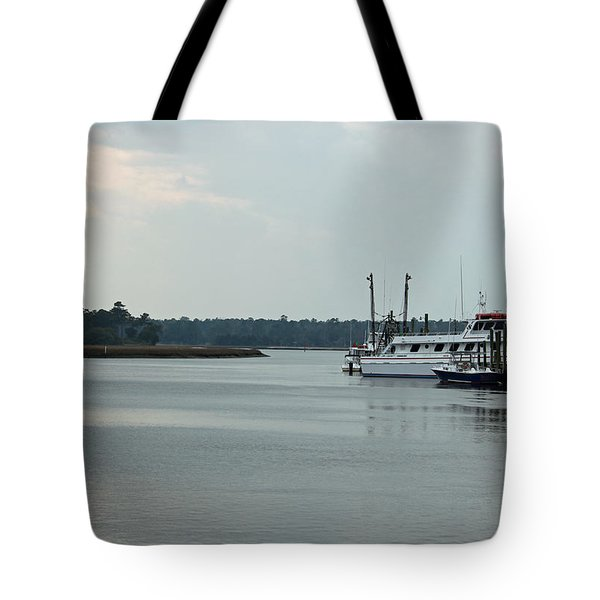 Little River Scenic Iv Tote Bag by Suzanne Gaff