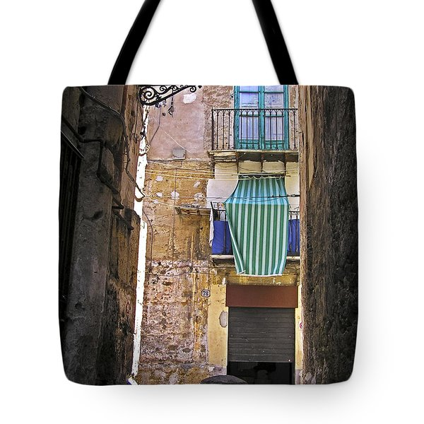 Tote Bag featuring the photograph Little Street Of Palermo by Silva Wischeropp