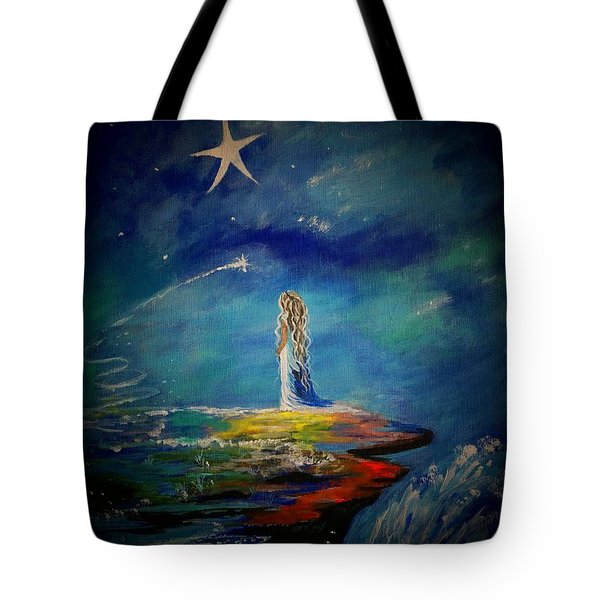 Little Wishes One Tote Bag by Leslie Allen