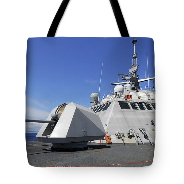 Littoral Combat Ship Uss Freedom Tote Bag by Stocktrek Images