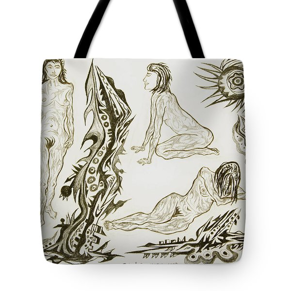 Live Nude 17 Female Tote Bag by Robert SORENSEN