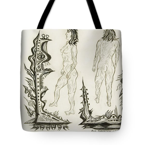 Live Nude 18 Female Tote Bag by Robert SORENSEN