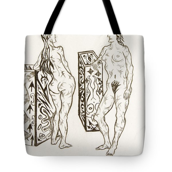 Live Nude 19 Female Tote Bag by Robert SORENSEN