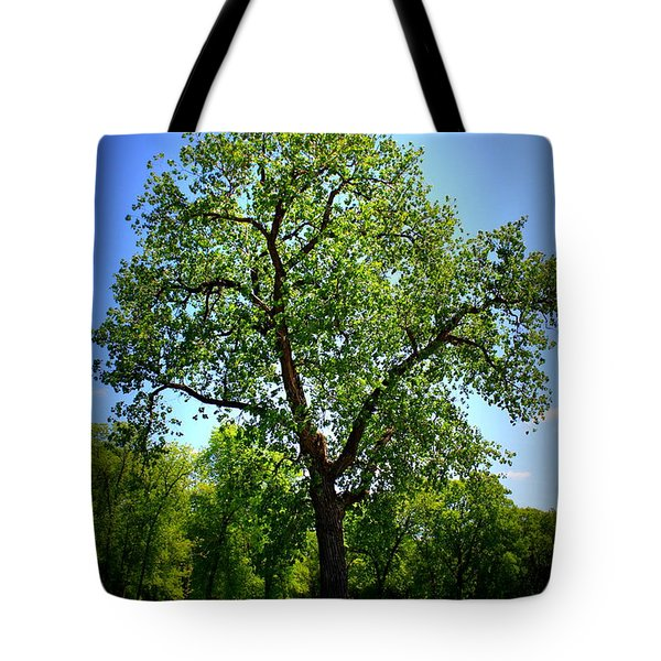 Old Green Tree Tote Bag