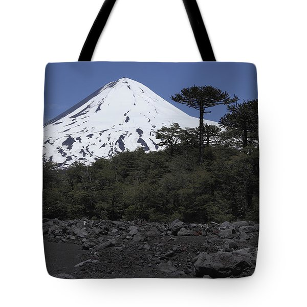 Llaima Volcano, Araucania Region, Chile Tote Bag by Martin Rietze
