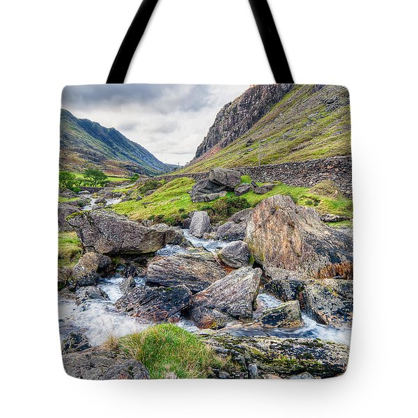 Llanberis Pass Tote Bag by Adrian Evans