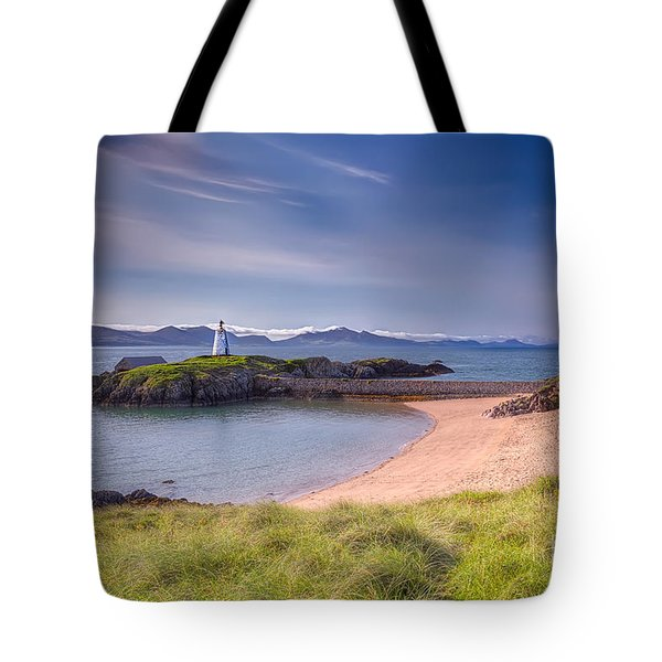 Llanddwyn Beacon Tote Bag by Adrian Evans