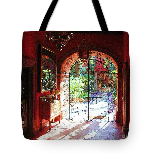Tote Bag featuring the photograph Lobby Enhanced by John  Kolenberg