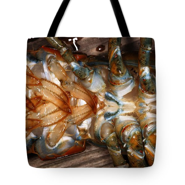 Lobster Female Sex Organs Tote Bag by Ted Kinsman