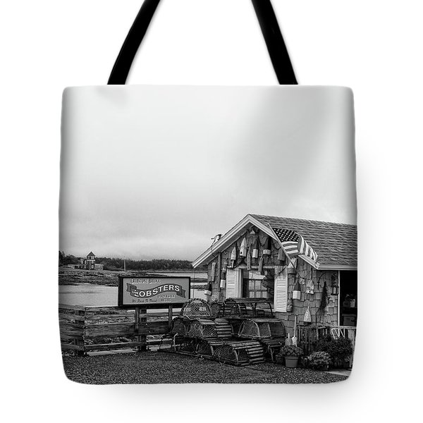 Lobster House Bw Tote Bag