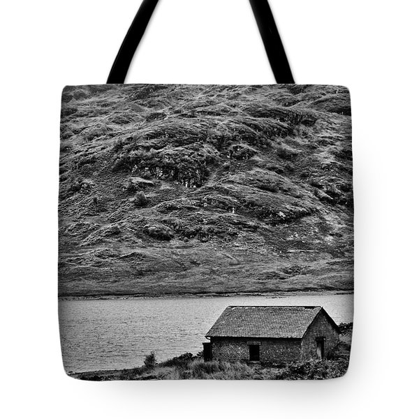 Loch Arklet Boathouse Tote Bag by Chris Thaxter
