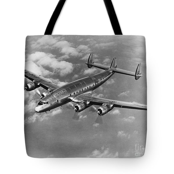 Lockheed Constellation Tote Bag by Photo Researchers