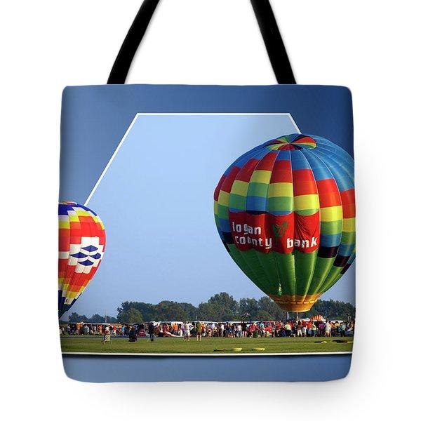 Logan County Bank Balloon 05 Tote Bag by Thomas Woolworth