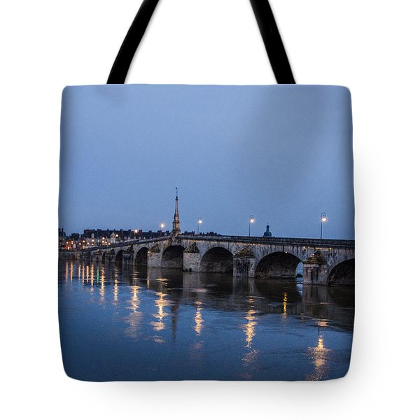 Loire River By Night Tote Bag by Marta Cavazos-Hernandez