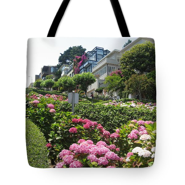 Tote Bag featuring the photograph Lombard Street by Dany Lison