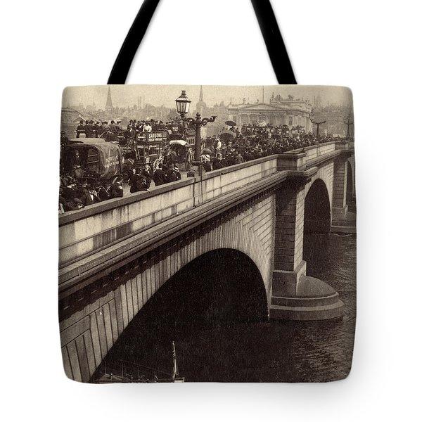 London Bridge - England - C 1896 Tote Bag by International  Images