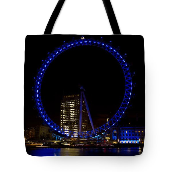 London Eye And River Thames View Tote Bag