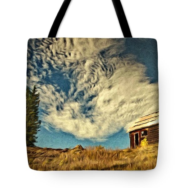Lone Cabin Tote Bag by Jeff Kolker