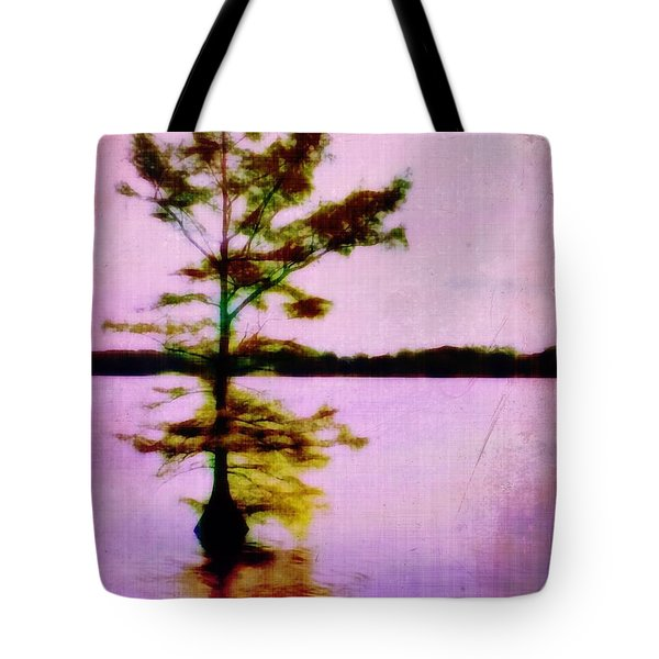 Lone Cypress Tote Bag by Judi Bagwell