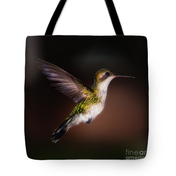 Lone Hummingbird Tote Bag