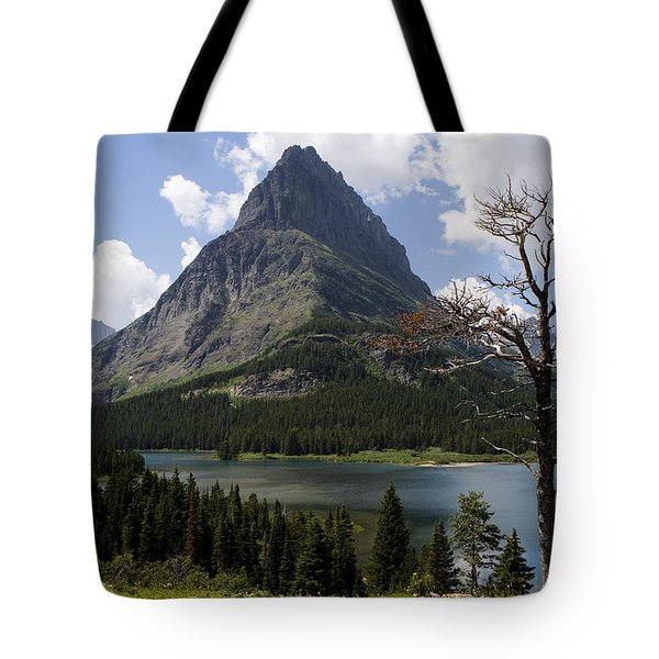 Tote Bag featuring the photograph Lone Tree At Sinopah Mountain by Lorraine Devon Wilke