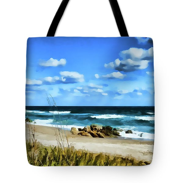 Lonely Beach Tote Bag
