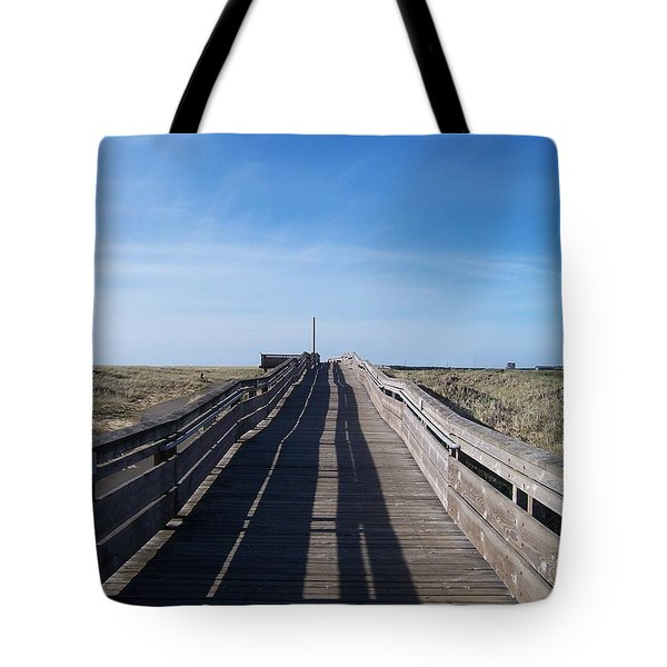 Tote Bag featuring the photograph Long Beach Boardwalk by Peter Mooyman