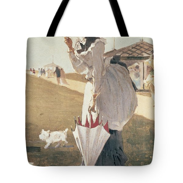 Long Branch Tote Bag by Winslow Homer