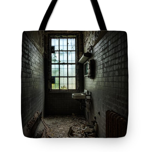 Long Narrow Lavatory Tote Bag by Gary Heller