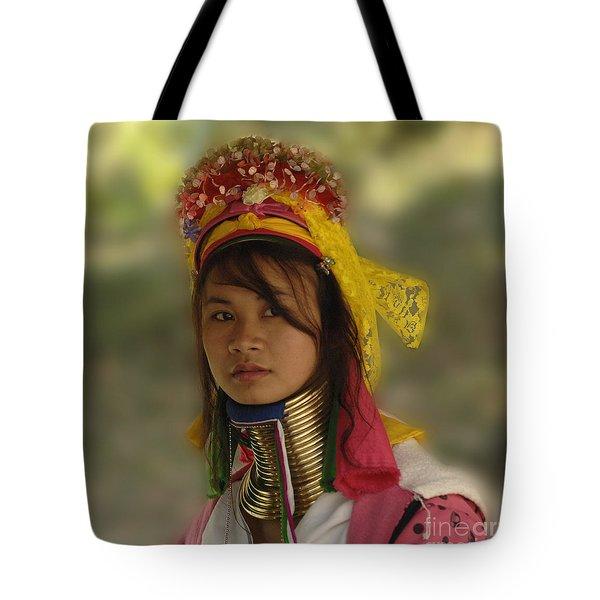 Long Neck Beauty Karen Tribe Tote Bag by Bob Christopher