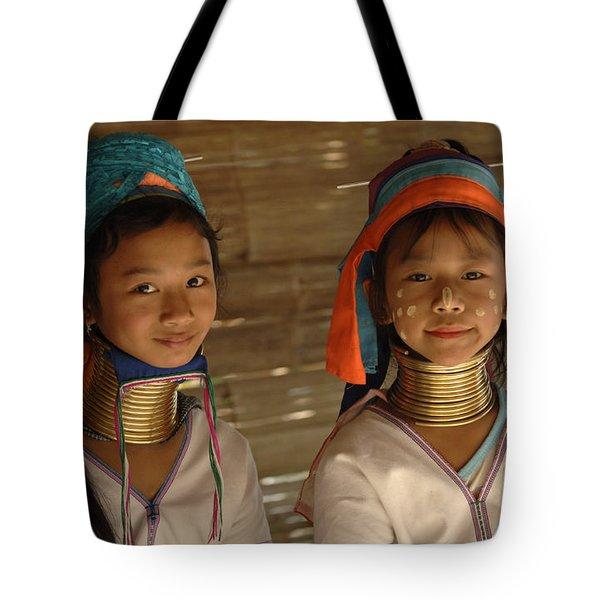 Long Neck Girls Tote Bag by Bob Christopher
