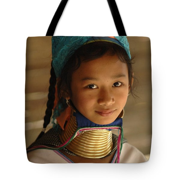 Long Necked Girl 2 Tote Bag by Bob Christopher
