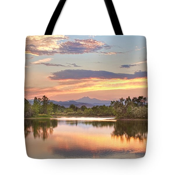 Longs Peak Evening Sunset View Tote Bag by James BO  Insogna