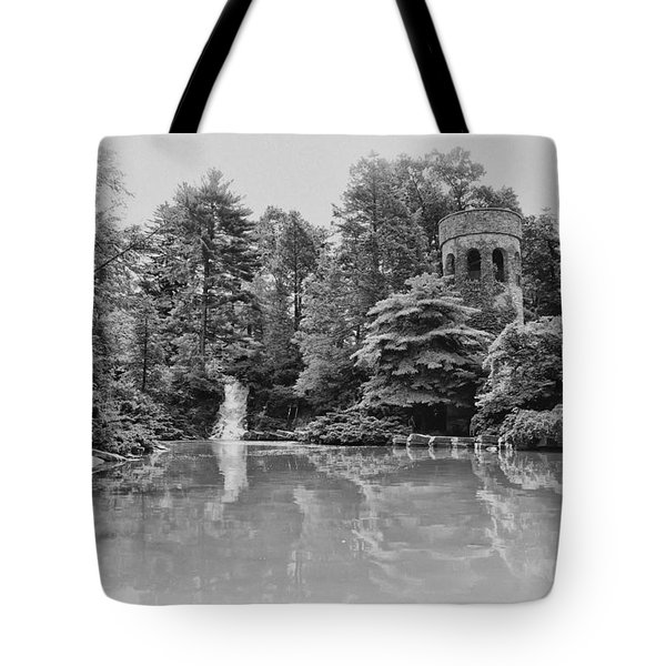 Longwood Gardens Castle In Black And White Tote Bag