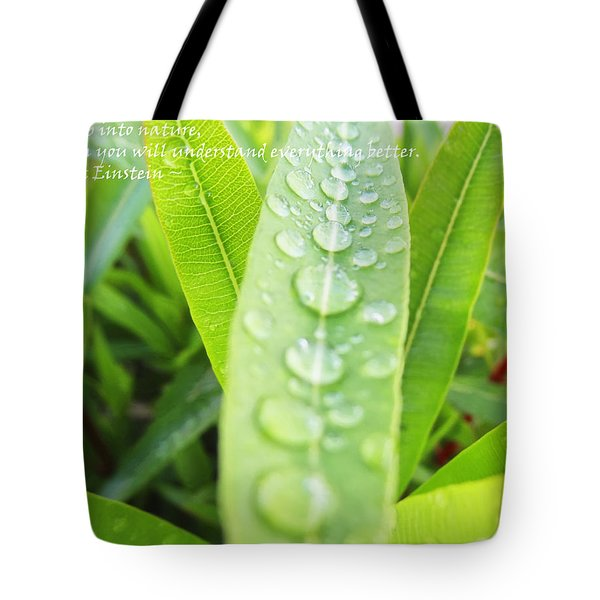 Look Deep Into Nature Tote Bag by Anne Mott
