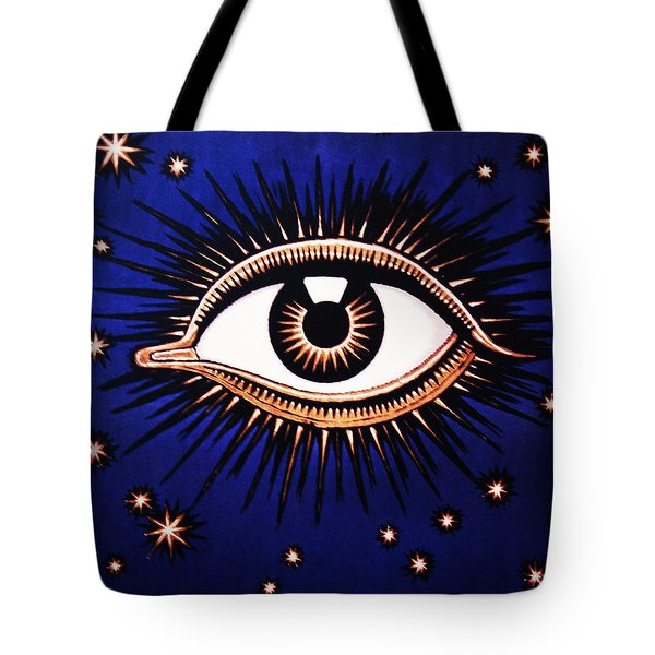 Look Em In The Eye Tote Bag by Bill Cannon