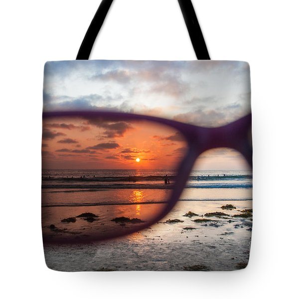 Tote Bag featuring the photograph Looking At Life Through Rose Colored Glasses by Sonny Marcyan