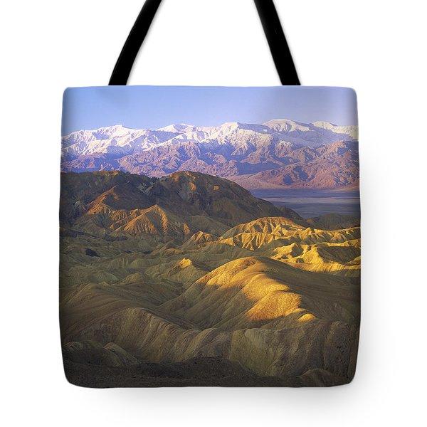 Looking At Panamint Range Tote Bag by Tim Fitzharris