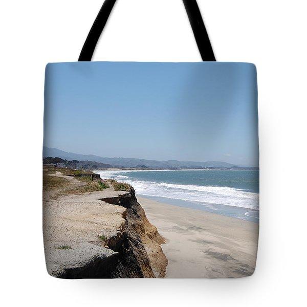 Looking Toward Half Moon Bay Tote Bag by Carolyn Donnell
