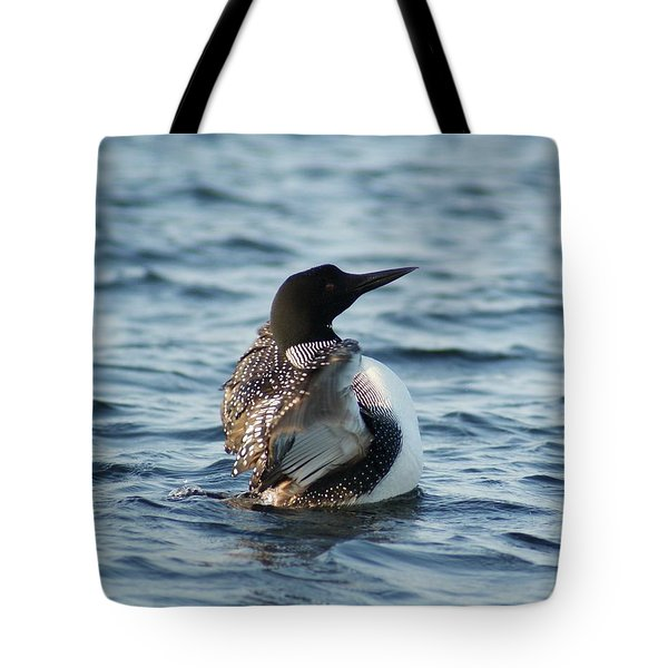 Loon Dance 1 Tote Bag by Steven Clipperton