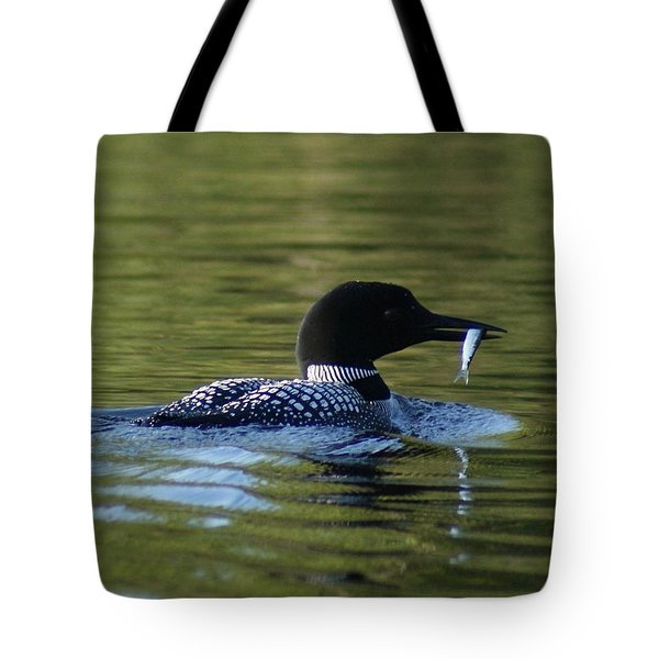 Loon With Minnow Tote Bag by Steven Clipperton