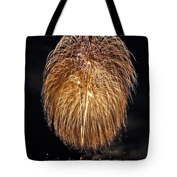 Lopez Island Fireworks 1 Tote Bag by David Salter
