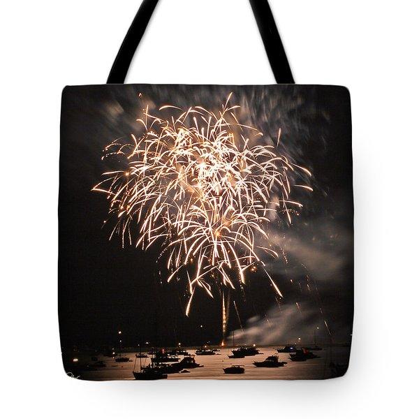 Lopez Island Fireworks 2 Tote Bag by David Salter