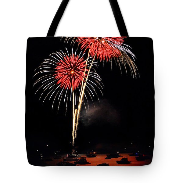 Lopez Island Fireworks 3 Tote Bag by David Salter